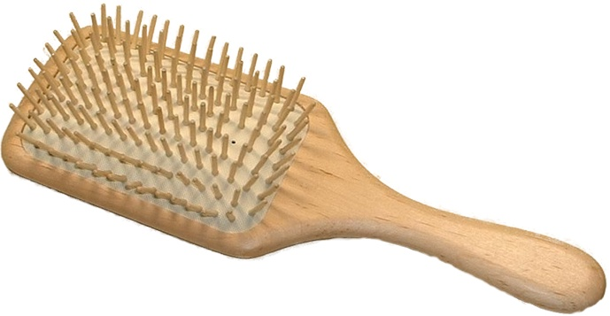 Kostkamm Paddle Brush Holzbürste