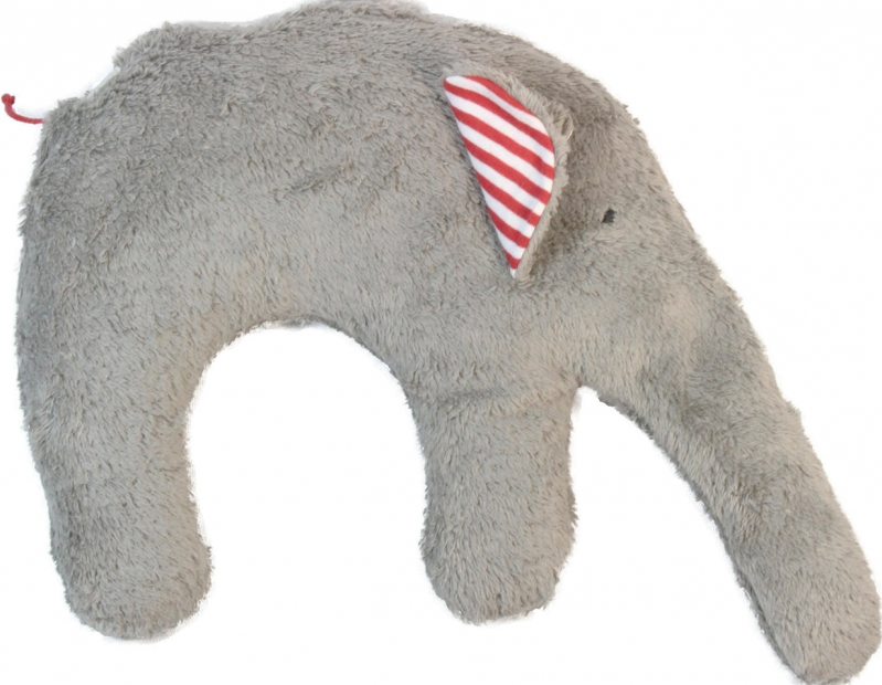 Nackenkissen Elefant.Bio Nackenkissen Elefant Hirsespelzkissen