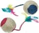 Sisal Katzen Spielball mit Rassel und Feder