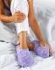 Wärme Slippies Deluxe gegen kalte Füße lila M