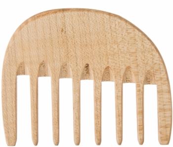 Kostkamm Lockenkamm Holz 10cm
