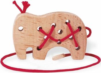 Holz Fädeltier Elefant