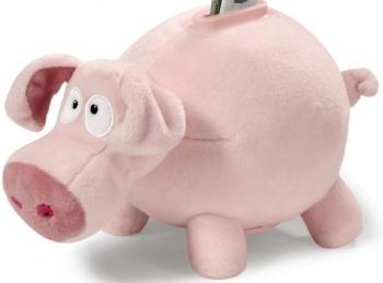 Plüsch Spardose Schwein