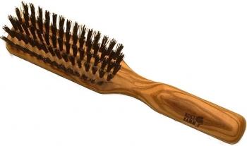 Kostkamm Haarbürste Olivenholz schmal