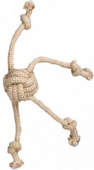 Flamingo Hunde Zerrspielzeug Knotenball aus Jute