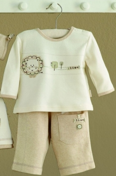 Langarm Babyshirt und Hose im Set - Safari