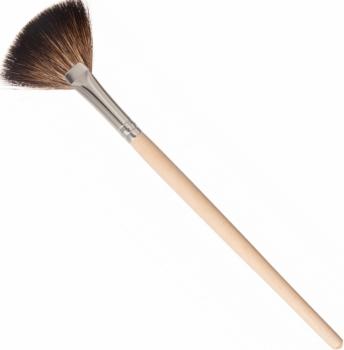 Kosmetik Fächerpinsel - Ahorn-Holzgriff