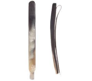 Kostkamm Horn Haarklemme schmal