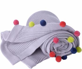 Baby Strickdecke aus Bio-Baumwolle | Kikadu
