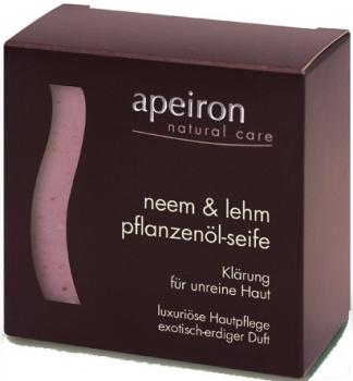 Apeiron Neem & Lehm Pflanzenölseife 100g
