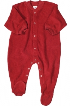 Baby Schlafanzug Frottee rot