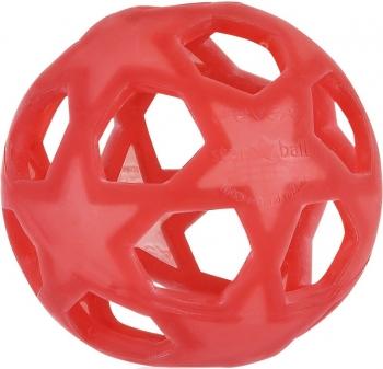 Baby Greifball aus Naturkautschuk rot