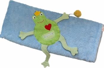 Babydecke Froschkönig blau groß