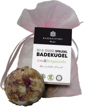 Badekugel Bergamotte Rose 50g