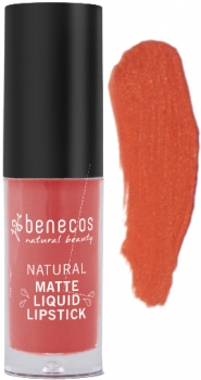 Benecos Liquid Lipstick matt coral kiss 5ml