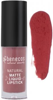 Benecos Liquid Lipstick matt rosewood romance 5ml