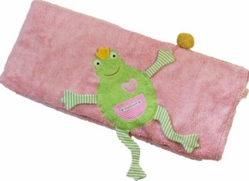 Bio Babydecke Froschkönig rosa groß