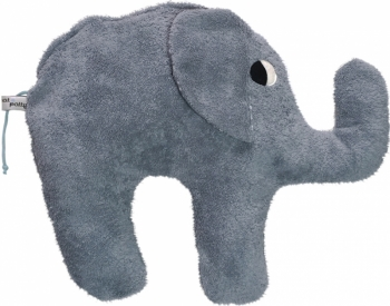 Bio Elefantenkissen grau mit Hirsespelz-Inlett