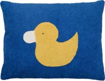 Bio Kinderkissen Ente blau
