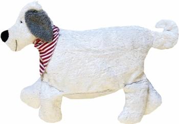 Bio Kinderkissen Hund weiss