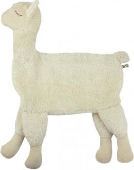 Bio Kuscheltier Kissen Lama Weiß