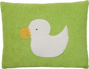 Bio Plüsch Kissen grün - Motiv Ente