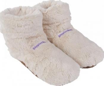 Fußwärmer Wärme Slippies Hot Boots Deluxe beige