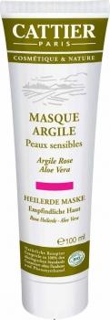 Cattier rosa Heilerde Maske - empfindliche Haut 100ml