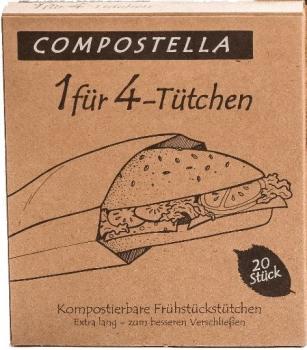 Compostella 1 für 4 Butterbrottüten Natur