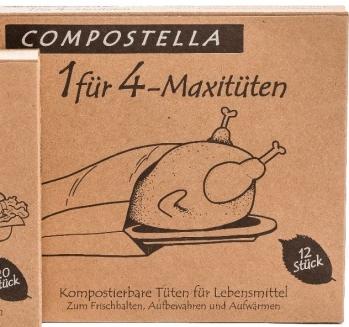 Compostella 1 für 4 Maxi Lebensmitteltüten Natur