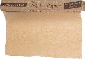 Compostella Naturwachs Einschlagpapier 8m
