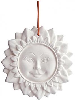 Duftkeramik Sonne mit Band