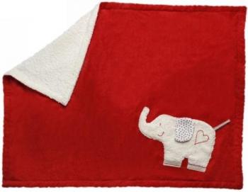 Spieldecke & Krabbeldecke rot mit Elefant