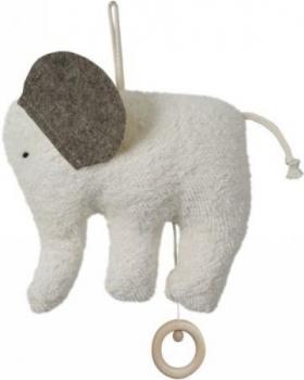 Bio Baby Spieluhr Elefant mit Wollfilz-Ohren