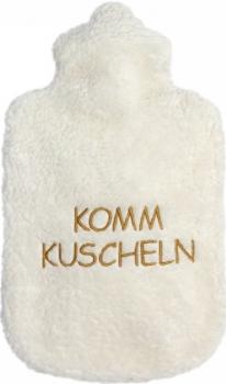 Bio Plüsch Wärmflasche hell