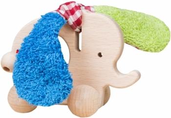 Schiebetier Elefant aus Holz mit Rollen
