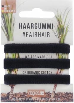 Haargummi aus Bio Baumwolle Schwarz 3er