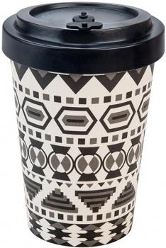 Kaffeebecher To Go Schwarz/Weiß