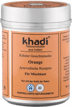 Khadi Gesichtsmaske Orange 50g