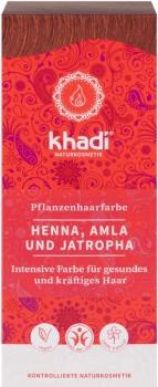 Khadi Pflanzenhaarfarbe Henna, Amla & Jatropha 100g