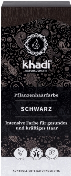 Khadi Pflanzenhaarfarbe Schwarz 100g