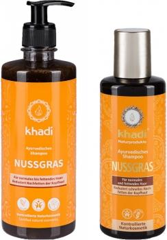Khadi ayurvedisches Shampoo Nussgras
