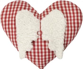 Kirschkernkissen Herz mit Flügel