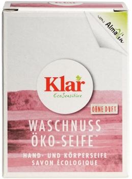 Klar Waschnuss Seife ohne Duft 100g