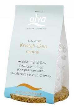 alva Kristall Deo Sensitiv mit Korkuntersetzer 100g