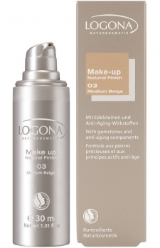 Logona Make up Natural Finish 3 medium beige 30ml