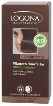 Logona Pflanzenhaarfarbe Braun Natur 100g