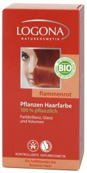 Logona Pflanzenhaarfarbe Flammenrot 100g