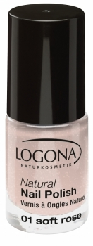 Logona Nagellack No 01 soft rose 4ml