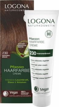 Logona Pflanzenhaarfarbe Creme Color Maronenbraun 150ml